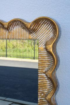 1960s Scalloped Oversize Italian Mirror - 1408851