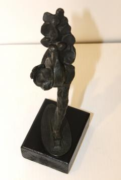 1960s Signed Bronze Abstract Sculpture - 1081068