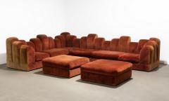 1960s Skyline Design Velvet Sectional Sofa - 2037932