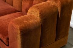 1960s Skyline Design Velvet Sectional Sofa - 2037933