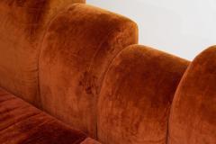 1960s Skyline Design Velvet Sectional Sofa - 2037935