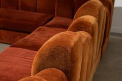 1960s Skyline Design Velvet Sectional Sofa - 2037938