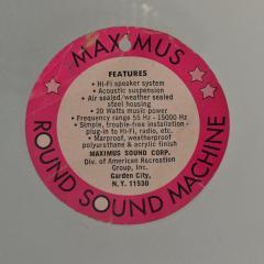 1960s Space Age MAXIMUS Round Sound Machine Hi Fi Speaker Mod Vintage - 1559439