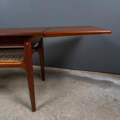 1960s Trioh of Denmark Teak Woven Cane Expandable Coffee Table - 2170157