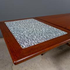 1960s Trioh of Denmark Teak Woven Cane Expandable Coffee Table - 2170159