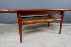1960s Trioh of Denmark Teak Woven Cane Expandable Coffee Table - 2170160