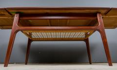 1960s Trioh of Denmark Teak Woven Cane Expandable Coffee Table - 2170163