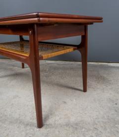 1960s Trioh of Denmark Teak Woven Cane Expandable Coffee Table - 2170174
