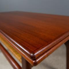 1960s Trioh of Denmark Teak Woven Cane Expandable Coffee Table - 2170175
