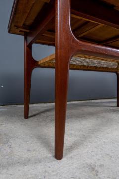 1960s Trioh of Denmark Teak Woven Cane Expandable Coffee Table - 2170176