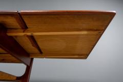 1960s Trioh of Denmark Teak Woven Cane Expandable Coffee Table - 2170181