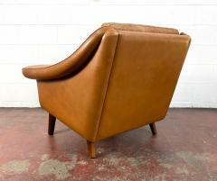 1960s Vintage Aage Christiansen Danish Leather Lounge Chair - 1982656