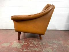 1960s Vintage Aage Christiansen Danish Leather Lounge Chair - 1982660