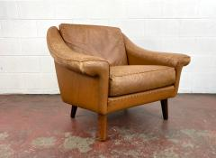 1960s Vintage Aage Christiansen Danish Leather Lounge Chair - 1982661