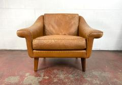 1960s Vintage Aage Christiansen Danish Leather Lounge Chair - 1982662