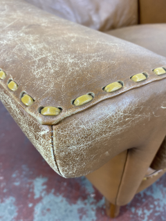 1960s Vintage Aage Christiansen Danish Leather Lounge Chair - 1982665