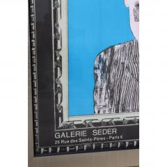 1966 Vintage David Hockney Galerie Sedar Exhibition Poster - 1893670
