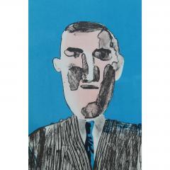 1966 Vintage David Hockney Galerie Sedar Exhibition Poster - 1893672