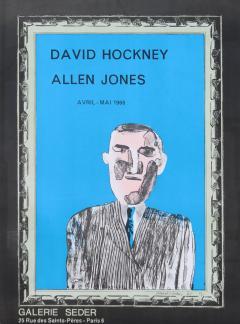 1966 Vintage David Hockney Galerie Sedar Exhibition Poster - 1894276
