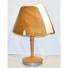 1970 French Vintage Birch Wood and Acrylic Table Lamp for Barcelona Hilton Hotel - 1487669