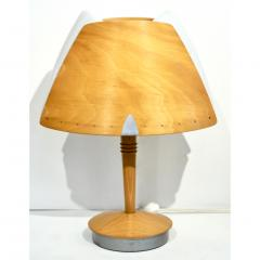 1970 French Vintage Birch Wood and Acrylic Table Lamp for Barcelona Hilton Hotel - 1487672