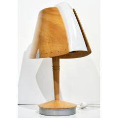 1970 French Vintage Birch Wood and Acrylic Table Lamp for Barcelona Hilton Hotel - 1487673