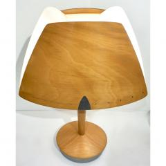 1970 French Vintage Birch Wood and Acrylic Table Lamp for Barcelona Hilton Hotel - 1487675