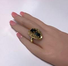 1970 s 18K Abstract Tourmaline Ring - 1194738