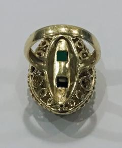 1970 s 18K Abstract Tourmaline Ring - 1194739