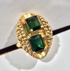 1970 s 18K Abstract Tourmaline Ring - 1194740