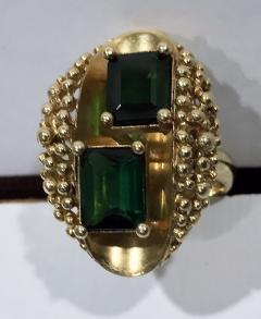 1970 s 18K Abstract Tourmaline Ring - 1194741