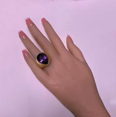 1970 s 18K Amethyst large Ring  - 1192774