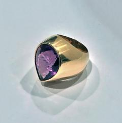 1970 s 18K Amethyst large Ring  - 1192776