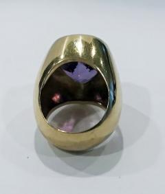 1970 s 18K Amethyst large Ring  - 1192777