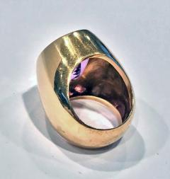 1970 s 18K Amethyst large Ring  - 1192778