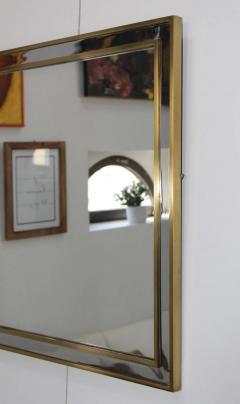 1970 s Modern Chrome And Brass Italian Mirror - 1909971