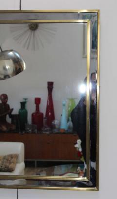1970 s Modern Chrome And Brass Italian Mirror - 1909972