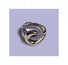 1970s 14K Yellow and White Gold Diamond Twist Ring - 331095