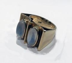 1970s 18K Moonstone Abstract Ring - 1220377