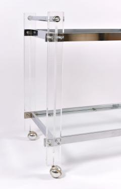 1970s American chrome and Lucite drinks serving trolley - 1094275