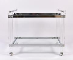 1970s American chrome and Lucite drinks serving trolley - 1094277