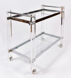 1970s American chrome and Lucite drinks serving trolley - 1094278
