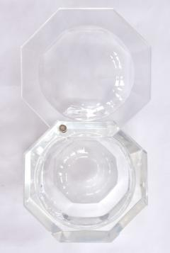 1970s American faceted Lucite ice bucket by Kaplan - 1469749