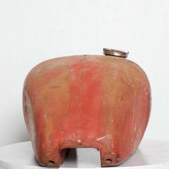 1970s Distressed Vintage RED Motorcycle Gas Tank Collectible Man Cave - 2083375