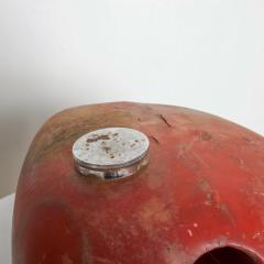 1970s Distressed Vintage RED Motorcycle Gas Tank Collectible Man Cave - 2083379