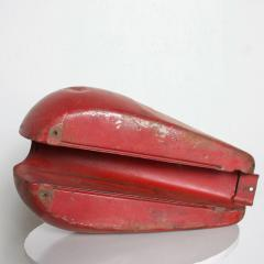 1970s Distressed Vintage RED Motorcycle Gas Tank Collectible Man Cave - 2083381