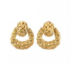 1970s Gold Door Knocker Earrings - 198884