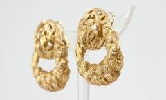 1970s Gold Door Knocker Earrings - 198886