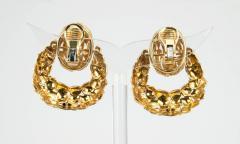 1970s Gold Door Knocker Earrings - 198887