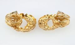 1970s Gold Door Knocker Earrings - 198888
